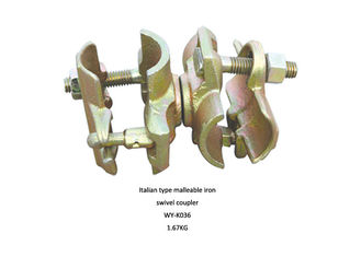 China Forged Double Malleable Scaffolding Swivel Coupler clamps with T bolt supplier