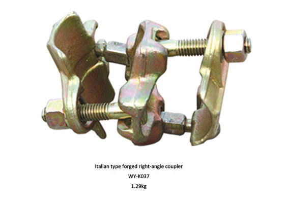 China Italian type Golden , Red scaffold double coupler forged right angle coupler supplier