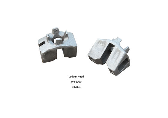 China Tube and fitting scaffold components Ringlock scaffolding ledger head supplier