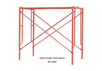 China Painted construction scaffolding h frame / door frame for Building ,Yard supplier