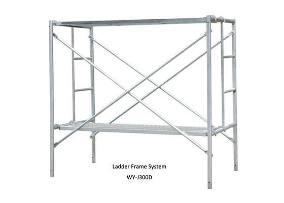 China Galvanized mobile ladder frame scaffolding System with wheel for bulding supplier