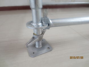 China All round / Layer / Ringlock Scaffolding System with jack base ledger brade and rosette supplier