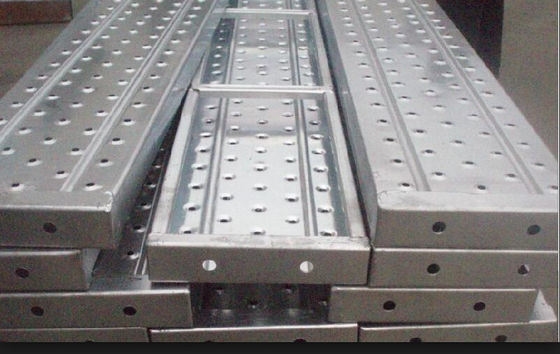 China Recycled aluminum scaffold plank / platforms 2.4/1.8/1.2/0.73M*230*63*1.8mm supplier