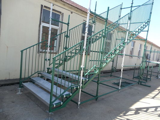 China Heavy Duty Green Cuplock Scaffolding System for painters / Building supplier