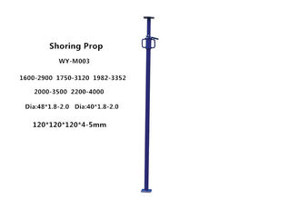 China Painting power coating adjustable shoring scaffolding props height 1.6-4m supplier