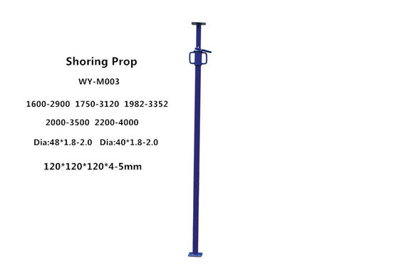 Painting power coating adjustable shoring scaffolding props height 1.6-4m