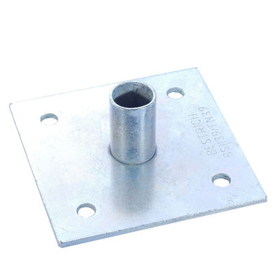 China BS1139 EN74 scaffold steel base plate for jack base Scaffolding Accessories supplier