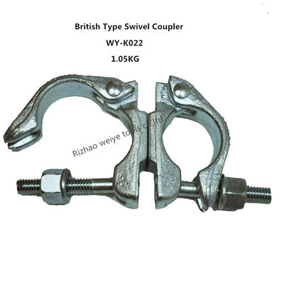 Hot dip galvanized / forged Scaffolding Double Coupler , 360 Degrees swivel couplings