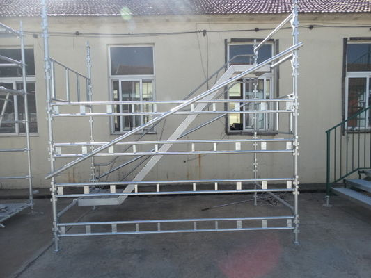 China Building Projects Haki Scaffolding With HDG Galvanized Steel And Aluminum Material supplier