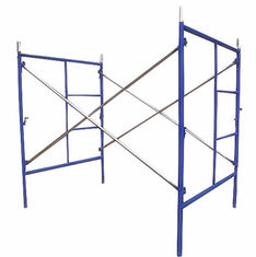 China Blue Painted Steel Q235 Frame Scaffolding System For Building Projects / Yard Construction supplier