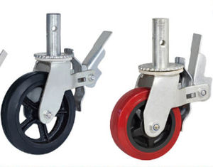 China Fexible adjustable PVC Rubber PA material bearing 350-420kg wheel caster supplier