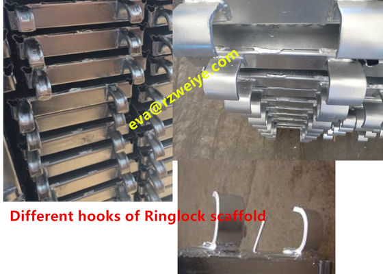 China Ringlock Scaffolding System , Forged / Pressed hook steel scaffolding boards supplier