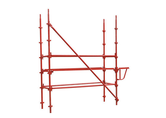 China Hot Dip Painted Q235 K-Stage Kwikstage Scaffold Components 48.3*3 / 3.25mm supplier