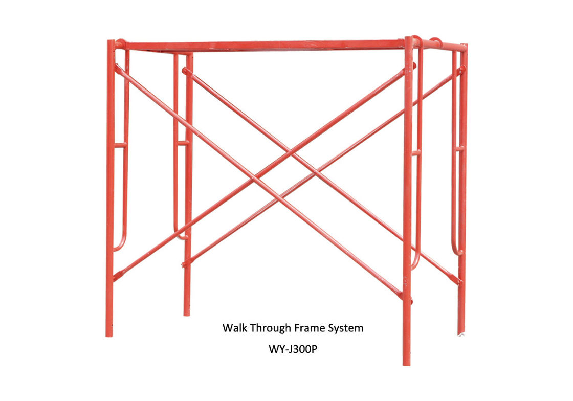 Construction Scaffolding Design : Painted construction scaffolding h frame door for