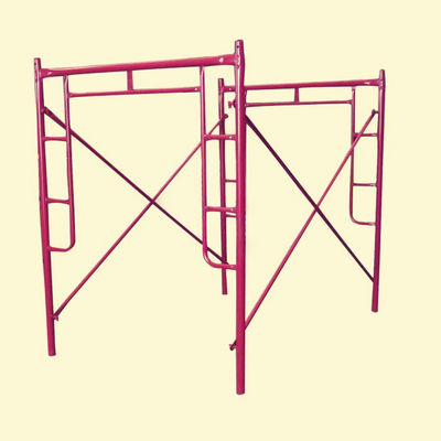 China Q235 Q345  H Frame Scaffolding System / walk through scaffolding distributor