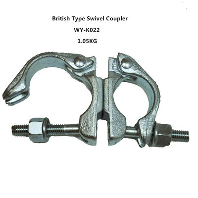 China Original , silver 360 Degrees scaffold swivel coupler / clamps Q235 distributor