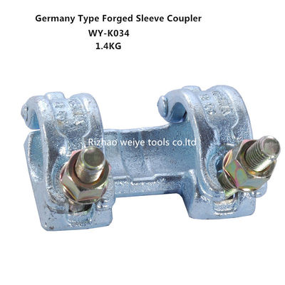 China EN74 Double scaffold sleeve coupler , anti - corrosion scaffold swivel coupler distributor