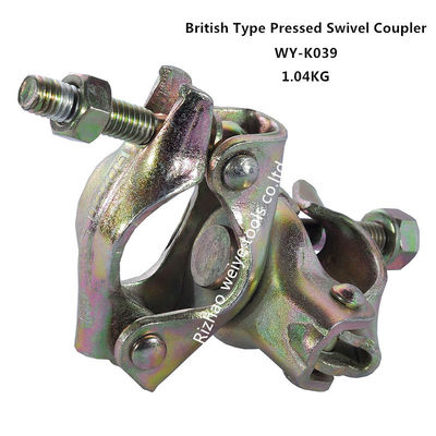 China Steel double coupler scaffold swivel / right angle coupler 48.3 X 48.3mm distributor