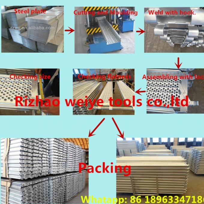 Recycled aluminum scaffold plank / platforms 2.4/1.8/1.2/0.73M*230*63*1.8mm