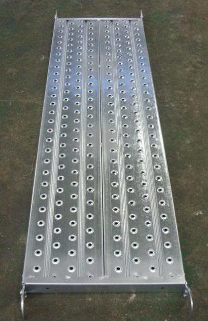 Galvanized Pregalvanized steel scaffolding boards with hook , thickness 1.8mm