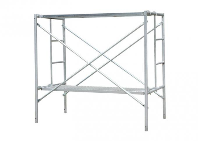Galvanized mobile ladder frame scaffolding System with wheel for bulding