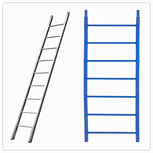 Natural aluminum scaffold plank Ladder beams system / Steel ladder frame scaffolding