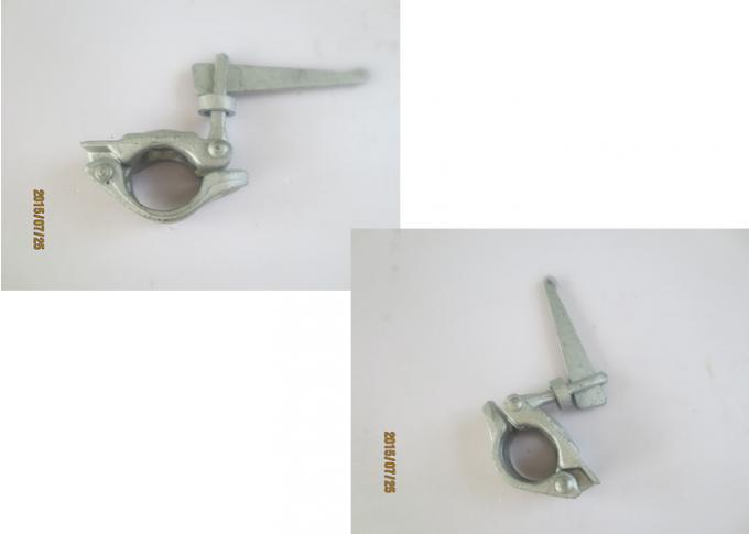 Wedged head single forged scaffolding swivel clamps and fittings