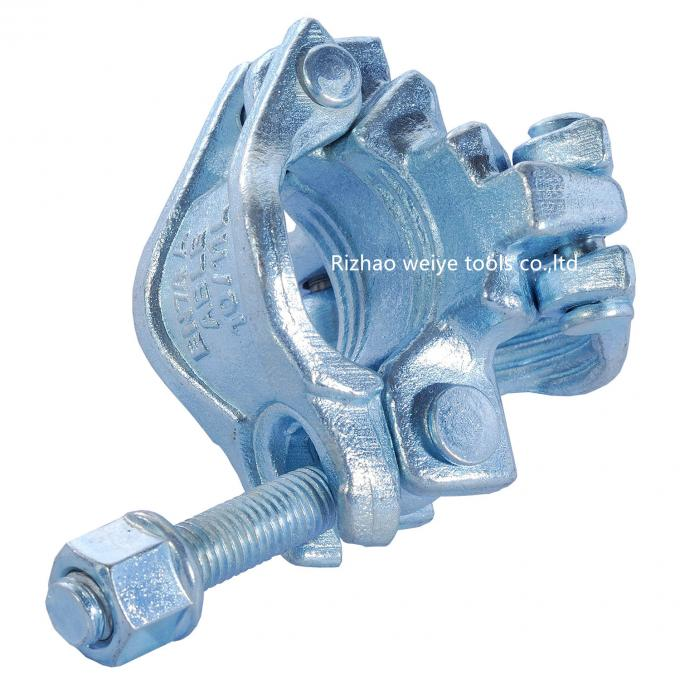 EN74 Galvanized scaffolding double coupler , scaffolding tube clamps