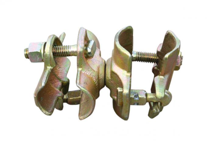 Forged Double Malleable Scaffolding Swivel Coupler clamps with T bolt