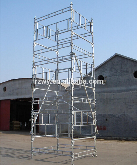 Building Projects Haki Scaffolding With HDG Galvanized Steel And Aluminum Material