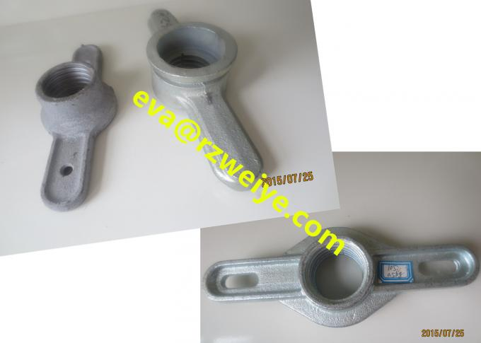 Hot galvanized Scaffolding Accessories forged / cast screw jack nut φ38 / φ34mm